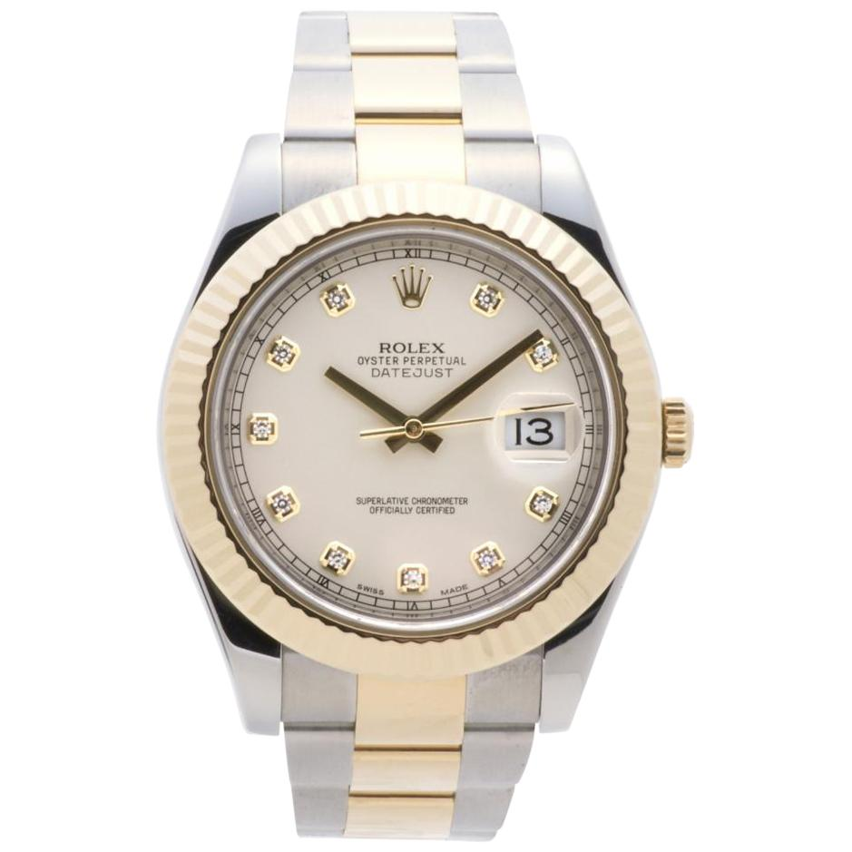 Rolex Datejust II 116333 Men's Automatic Two-Tone Stainless Steel Diamond Dial