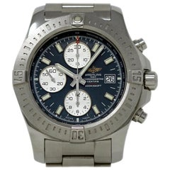 Breitling Colt Chronograph A13388 Stainless Steel Blue Dial 2 Year Warranty
