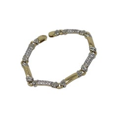Chimento Bracelet Yellow and White Gold 0.74 Carat Diamond