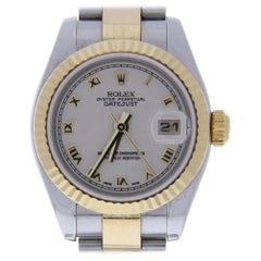 Rolex Datejust 179173 with Band, Yellow-Gold Bezel and Ivory Dial