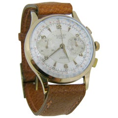L.A. Leuba Vintage 18 Karat Gold Chronograph Watch