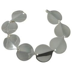 Hans Hansen #245 Danish Sterling Silver Modernist Bracelet, circa 1960s
