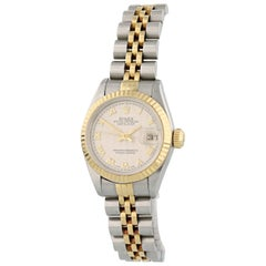 Rolex Datejust 69173 with Band, Yellow-Gold Bezel and Off-White Dial