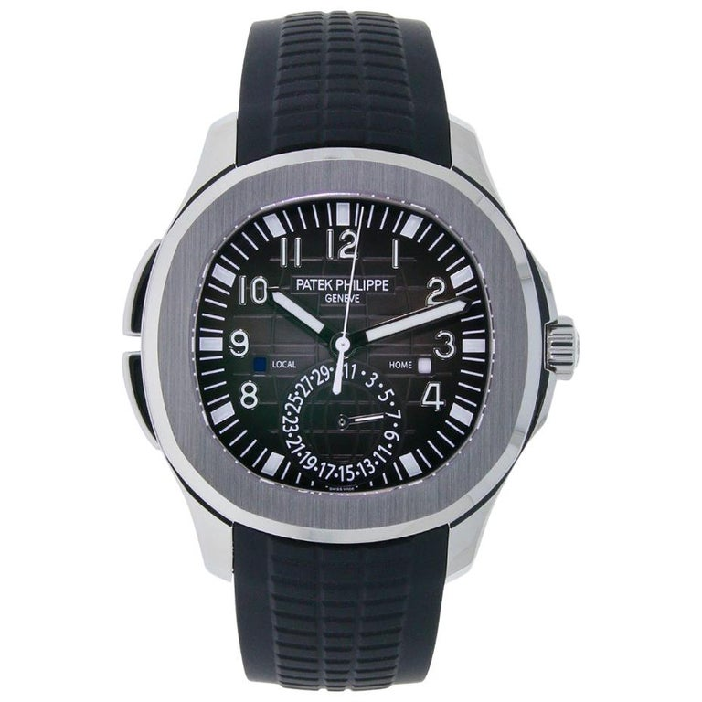 Patek Philippe Aquanaut Stainless Steel Rubber Strap Watch 5164A-001 For Sale