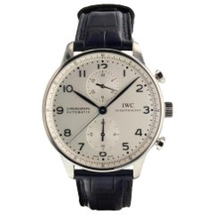 IWC Portuguese Chronograph Steel Automatic Men's Watch IW371446 Mint