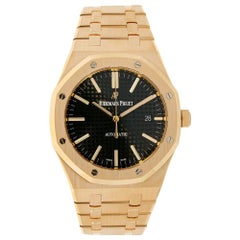 Audemars Piguet Royal Oak Rose Gold Black Dial Watch 15400OR.OO.1220OR.01