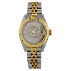 Rolex Datejust 69173 with Band, Yellow-Gold Bezel and Champagne Dial