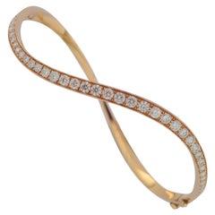 1.55 Carat Diamond 18 Karat Rose Gold Çintemani Bracelet