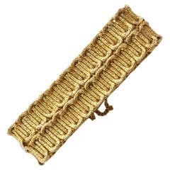 1970s Georges Lenfant Paris Gold Braided Bracelet