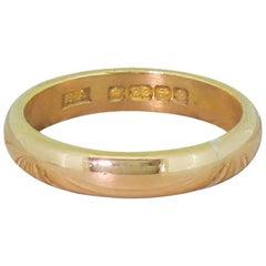 22 Karat Rose Gold Wedding Band