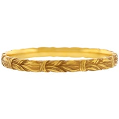Riker Brothers Yellow Gold Bangle