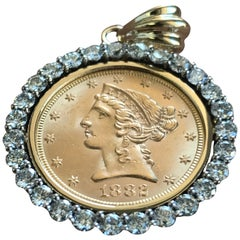 Custom Diamond Gold Coin Bezel for Your Coins, Ben Dannie