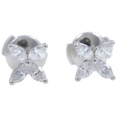 Tiffany & Co. Victoria Diamond Earrings in Platinum 0.64 Carat