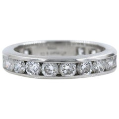 Tiffany & Co. Full Circle Platinum Diamond Eternity Band Ring 1.80 Carat