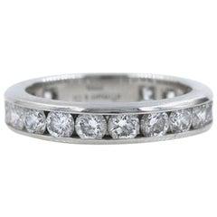 Tiffany & Co. Full Circle Platinum Diamond Eternity Band Ring 1.80 Carat