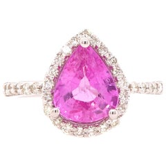 2.5 Carat Pink Sapphire and Diamond Ring
