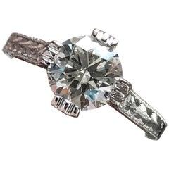 1.25 Carat Approximate Round Diamond Flower Ring 14 Karat White Gold, Ben Dannie