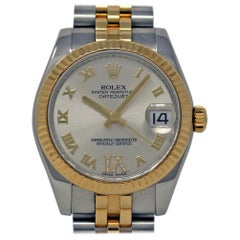 Rolex Datejust 178273 Steel Gold Diamond Automatic Box/Paper/Warranty #432-1