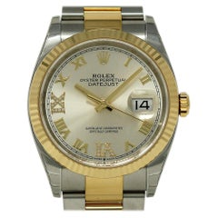 Rolex New Datejust 126233 Steel Gold Diamond 2018 Box/Paper/Warranty #RL416