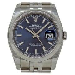 Rolex New Datejust 116200 Stainless Steel Blue 2018 Box/Paper/5 Year Warranty