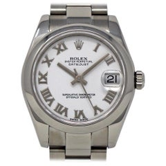 Rolex Datejust 178240 White Roman Steel Automatic Box/Paper/Warranty #442-1