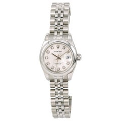 Rolex Datejust 179160 Women's Automatic Watch Factory Diamond Dial Stainless