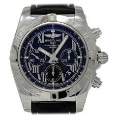 Breitling New Chronomat AB011012/B956 Black Leather Box/Paper/2 Year Warranty