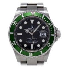 Rolex Submariner 16610 Green 50th Anniversary 2008 Box/Paper/Warranty #450-1