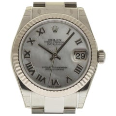 Rolex New Datejust 31mm 178274 White Gold Steel MOP Box/Paper/5YrWarranty #RL293