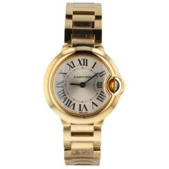Cartier Ballon Bleu 18 Karat Yellow Gold Quartz Ladies Watch W69001Z2 Complete