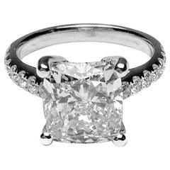 Kissen Sie 4,50 Karat, Diamant-Ring