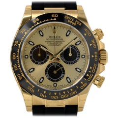 Rolex New Daytona 116518 Yellow Gold Oysterflex 2018 Box/Paper/5 Year Warranty