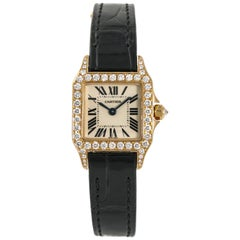 Cartier Santos Demoiselle 2794 WF902006 Quartz Watch Factory .70CT 18K Rose 20mm