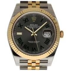 Rolex New Datejust II 126333 Steel Gold Green Box/Paper/5 Year Warranty #RL370