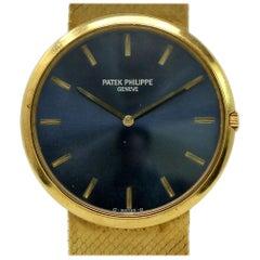 Patek Philippe Calatrava Yellow Gold Blue Index Automatic Box 2 Year Warranty