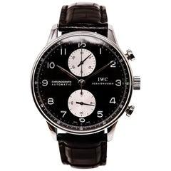 IWC Schaffhausen Chronograph IW3714-04 Men's Automatic SS Watch Panda Dial