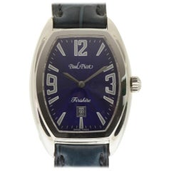 Paul Picot New 4097 Firshire Autom 2000 Steel Blue Box/Paper/2 Year Warranty