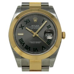 Rolex New Datejust II 126303 Steel Gold Green Box/Paper/5 Year Warranty #RL439