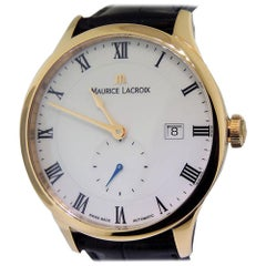Maurice La Croix Masterpiece Tradition Rose Gold Small Seconde Date MP6907-PG101