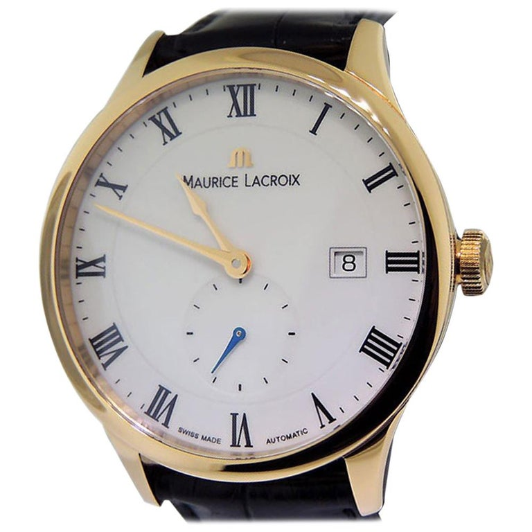 ea249181c3 Maurice La Croix Masterpiece Tradition Rose Gold Small Seconde Date  MP6907-PG101 For Sale