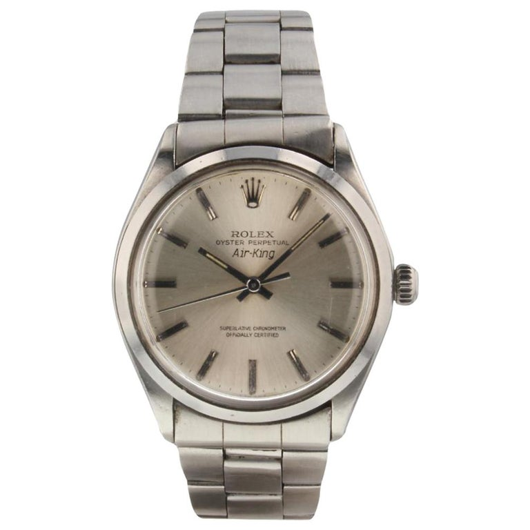 Rolex Oyster Perpetual Air King Steel Automatic Watch 5500 Box Papers Mint