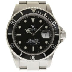 Rolex Submariner 16610 Stainless Steel Black 2001 Box/Paper/Warranty #272-1