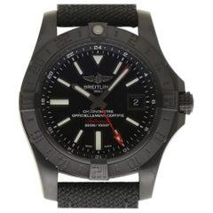 Breitling New Avenger II GMT Black M3239010/BF04 Steel Box/Paper/Warranty #BR17