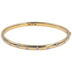 Tiffany & Co. Yellow Gold Diamond Bangle 0.21 Carat