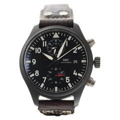 IWC Pilot Top Gun Chronograph Automatic Black Ceramic Men's Watch IW389001