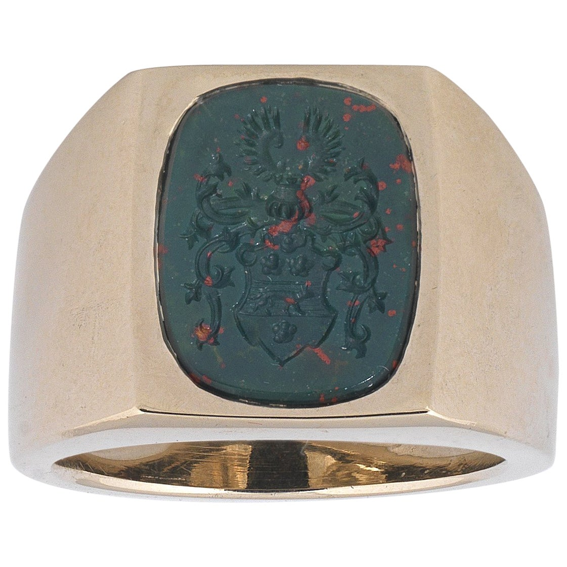 Men's Gold and Bloodstone Signet Ring