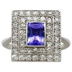 Tanzanite, Diamond and White Gold Cocktail Ring