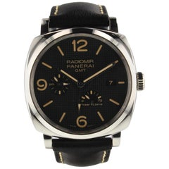 Panerai Radiomir 1940 3 Days GMT Power Reserve Steel Watch PAM00628 PAM 628