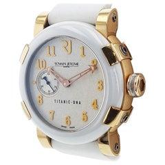 Romain Jerome Titanic DNA 18K Rose Gold White Ceramic Rubber Watch T.W2222.00.WW