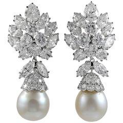 Van Cleef & Arpels Diamond, South Sea Pearl Detachable Earrings